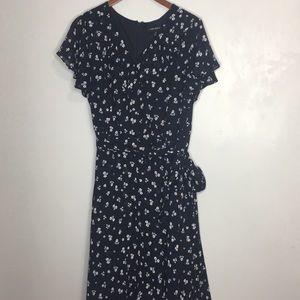 Lane Bryant floral ruffle midi dress sz 18